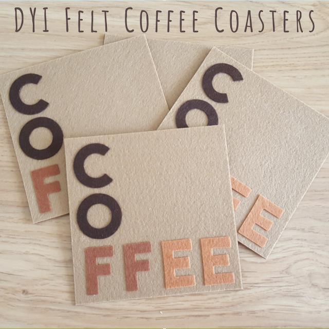 DYI Felt Coffee Coasters