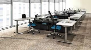 Ergonomic Open Desking Layout