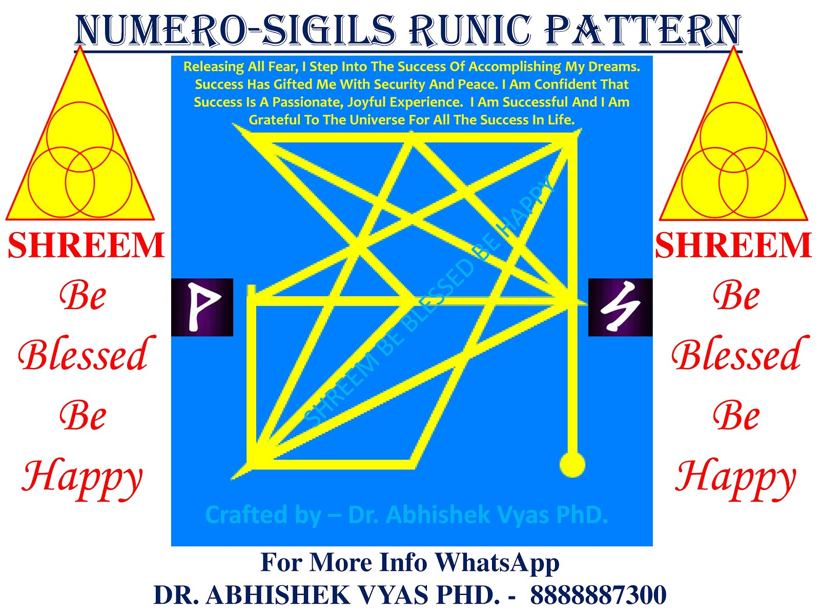 Free Universal Numero-Sigil Runic Pattern To Release Fear Of