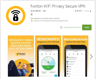 Aplikasi Norton WiFi Privacy di android
