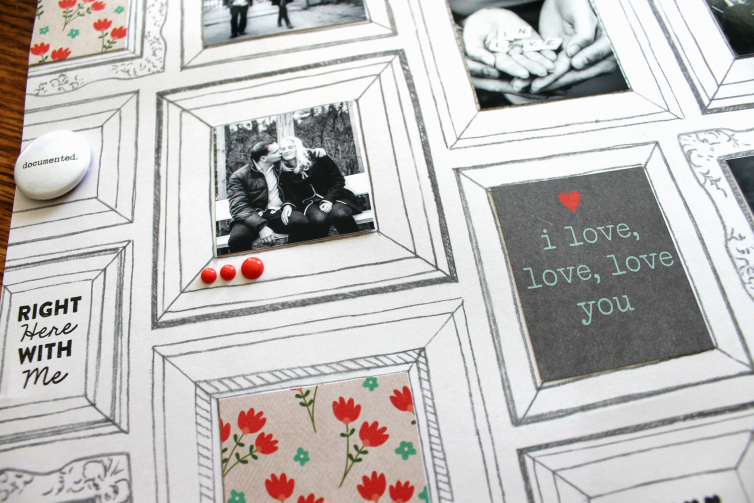 Hello. I love, love, love you   Scrapbooking Layout