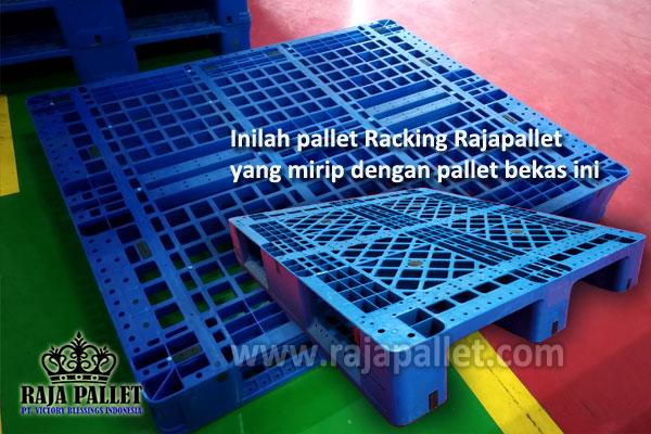 pallet plastik bekas vs pallet racking rajapallet