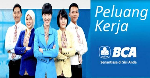 Lowongan Kerja Rekrutmen Tingkat SMA/SMK PT Bank Central Asia, Tbk. Program Magang Bakti BCA Untuk Penempatan Seluruh Indonesia (Periode: November - Desember 2019)