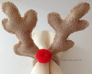 DiY No-Sew Deer Antlers Napkin Ring Tutorial