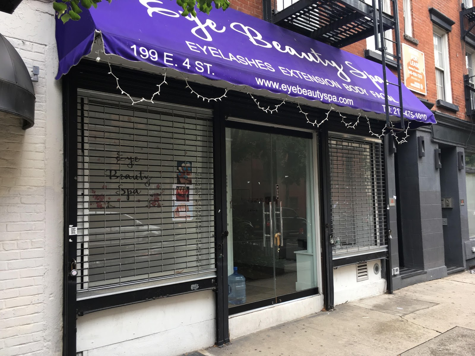 EV Grieve: Former Eye Beauty Spa for rent on 4th Street