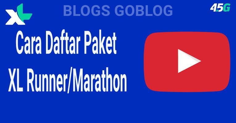 2 Cara Daftar Paket XL JKT Runner/Marathon Terbaru