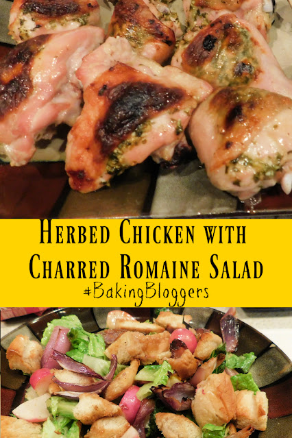Herbed Chicken with Charred Romaine Salad