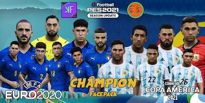 PES 2021 Champions 2021 FacePack by Kazuya & NVA