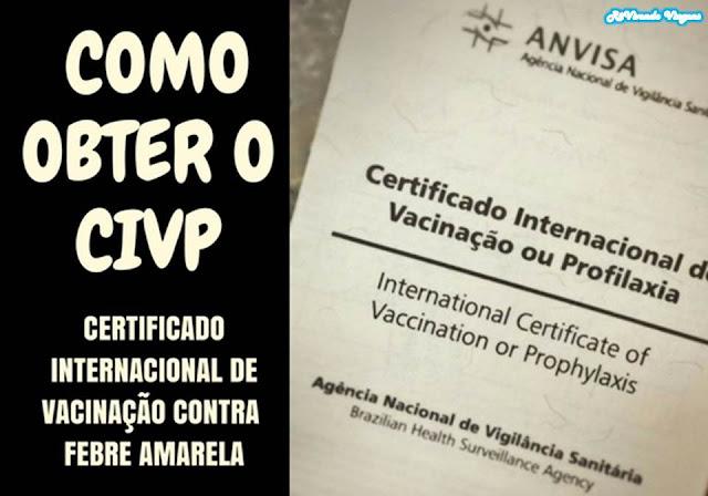 Certificado internacional de vacinação contra febre amarela
