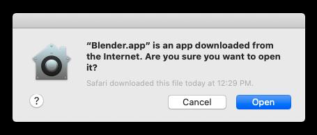 Blender Internet Message