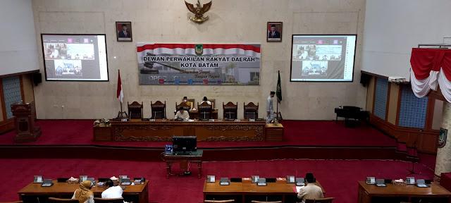 DPRD Kota  Batam Gelar Rapat Paripurna Penyampaian Pandangan Fraksi