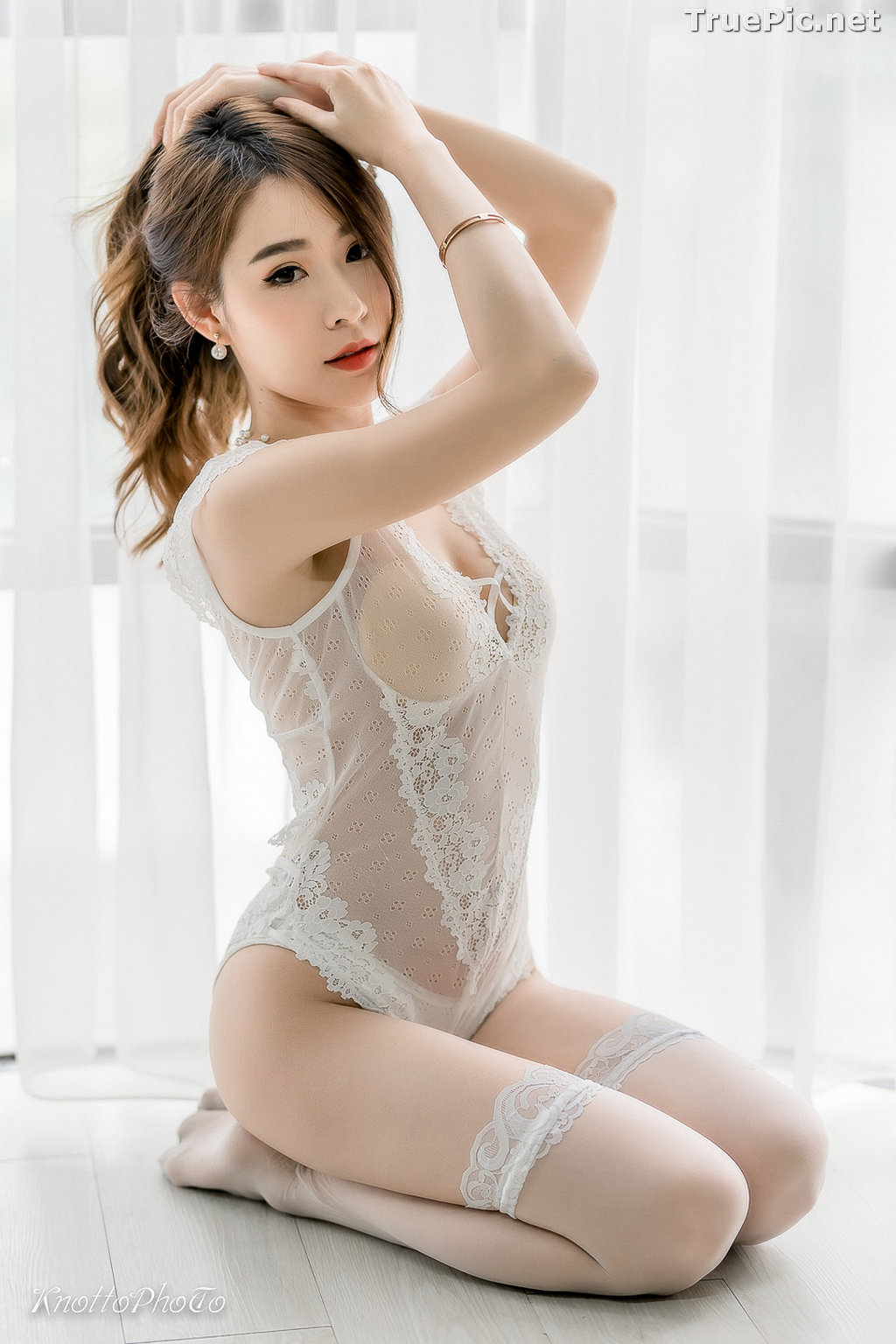 Image Thailand Hot Beauty Model - Thipsuda Jitaree - White Lace Underwear - TruePic.net - Picture-3