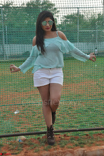 Madhulagna Das looks super cute in White Shorts and Transparent Top 29.JPG