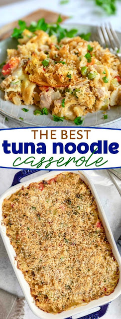 THE BEST TUNA CASSEROLE WITH NOODLES