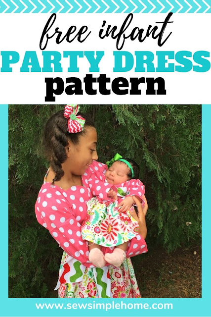 Free Infant dress pattern from the Holly and Ivy Party Dress PDF Pattern
