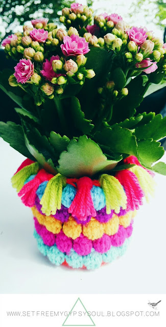 free crochet pattern bohemian home bright plant sock cozy cover tutorial