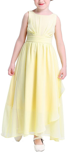 Good Quality Chiffon Girls Junior Bridesmaid Dresses