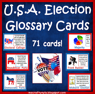 Election flash cards