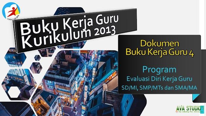 Program Evaluasi Diri  Kerja Guru Kurikulum 2013 - SD/MI, SMP/MTs dan SMA/MA