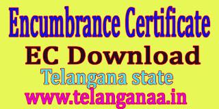 Encumbrance Certificate EC Download Telangana State