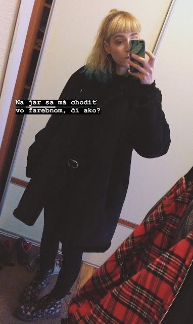 Dnes som si zvolila outfit v čiernej farbe.