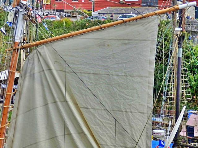 Charlestown Harbour ship sails