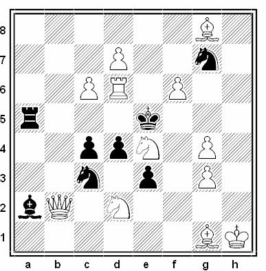 Problema de mate en 2 compuesto por Ruslan Surkov (3ª Mención, Torneo Olímpico de Dresde 2007-08)