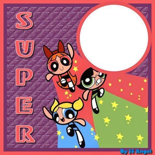 Para hacer invitaciones, tarjetas, marcos de fotos o etiquetas, para imprimir gratis de Las Super Nenas.