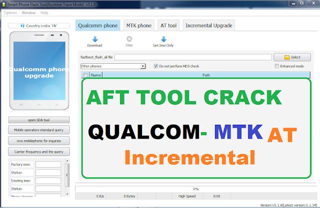 Sp Flash Tool_Aft Tool Full Crack Qualcomm,Mtk,AT Incremental Upgrade Tool