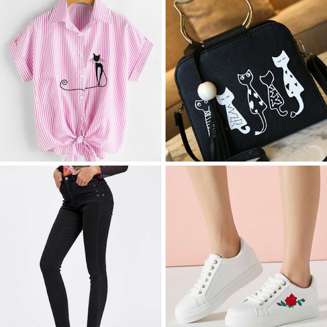 Wishlist de aniversário by Loja Romwe, moda, fashion, wishlist, romwe, blusas, calças, tênis, shoes