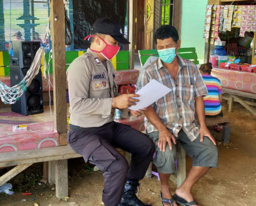 Antisipasi Karhutla Sejak Dini, Bripka Heri Kuswanto Sebarkan Maklumat Kapolda Kalteng