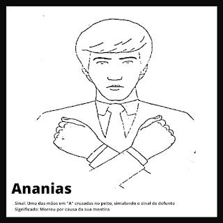 Ananias em Libras