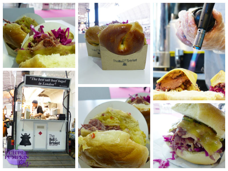 Salt Beef Bagels from The Bell & Brisket at the BBC Good Food Show, London