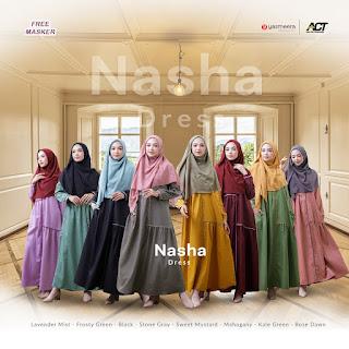 Koleksi Baju Muslim Modern Terbaru Yasmeera Nasha Dress