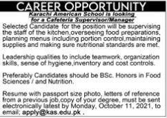 JOBS | Karachi American School