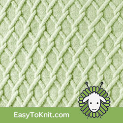Trellis Twist Cable | Easy to knit #knittingstitches #knitcables
