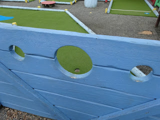 Crazy Golf course at Pontin's Prestatyn Sands holiday park