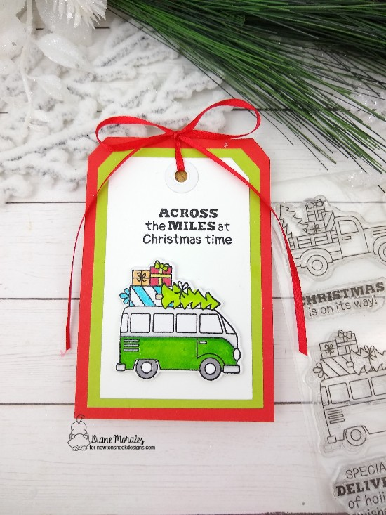 Across the miles by Diane features Destination Christmas by Newton's Nook Designs; #newtonsnook, #tagmaking, #vintagecars