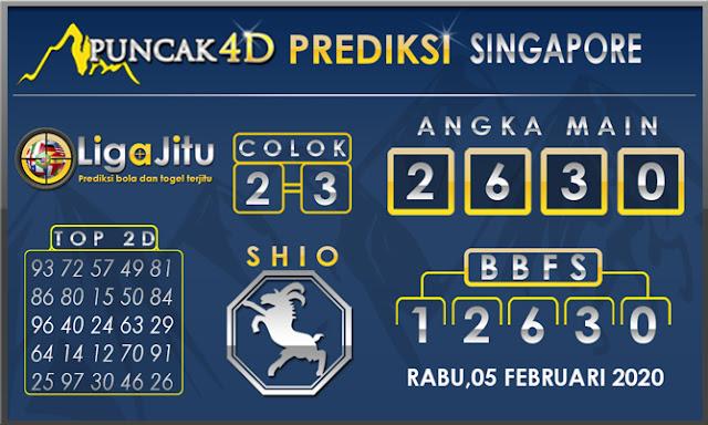 PREDIKSI TOGEL SINGAPORE PUNCAK4D 05 FEBRUARI 2020