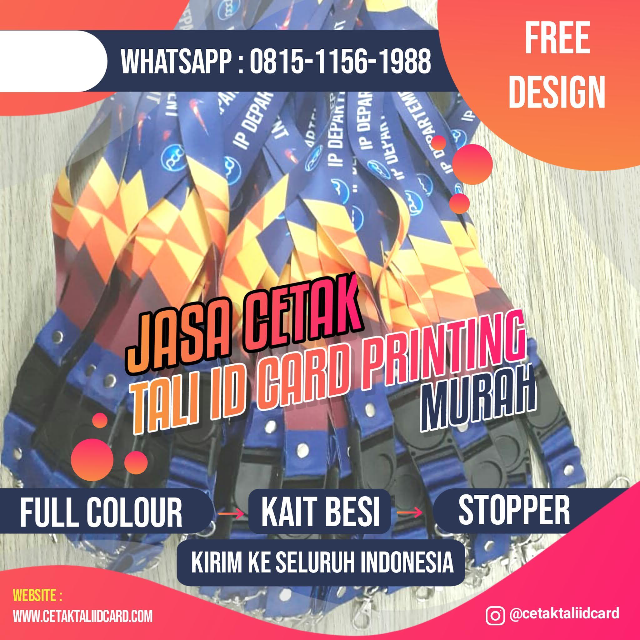 Jasa Cetak Tali ID Card