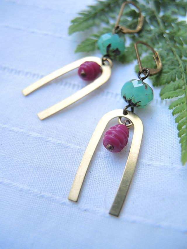 """DIY oorbellen/earrings: """"Tess"""""""