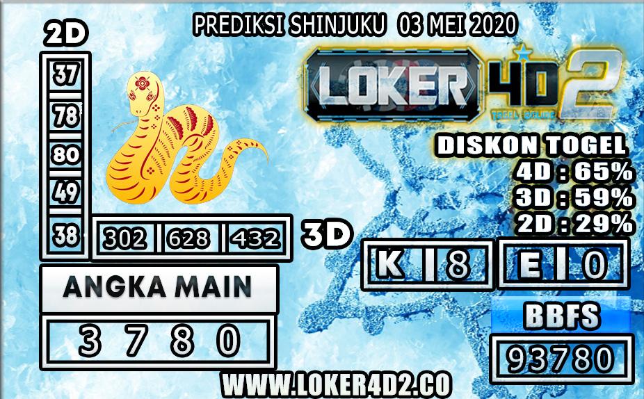 PREDIKSI TOGEL SHINJUKU LUCKY 7 LOKER4D2 03 MEI 2020