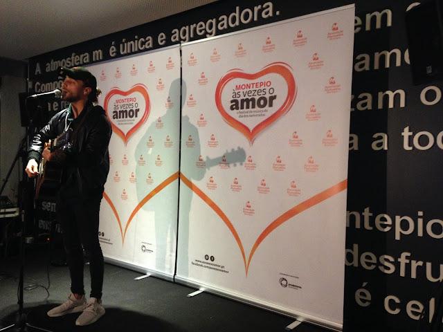 Diogo Piçarra na apresentação do festival montepio às vezes o amor