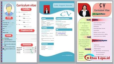 Download curriculum vitae atau CV gratis format word