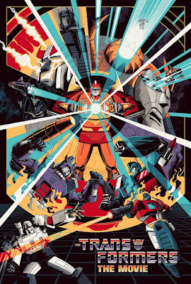 San Diego Comic-Con 2019 Exclusive Transformers: The Movie Screen Print by Cesar Moreno x Mondo