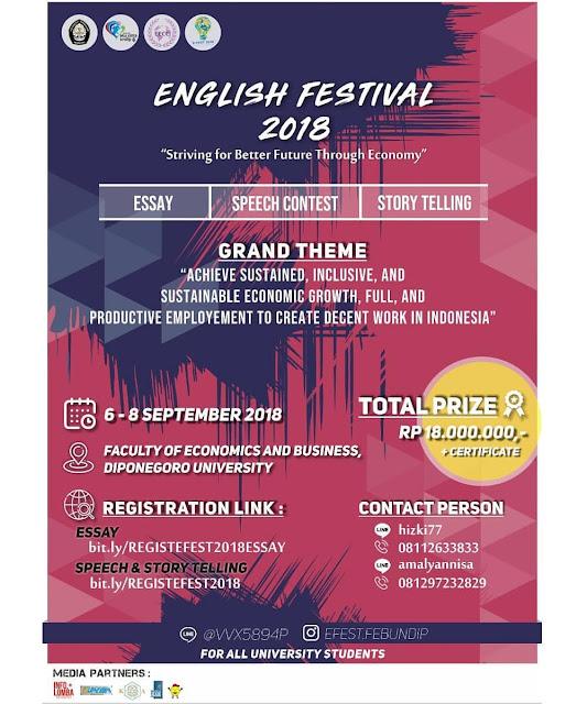 Event English Festival 2018