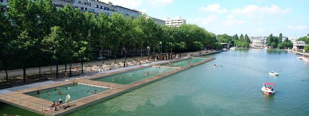 Bassin d'eau naturelle La Vilette