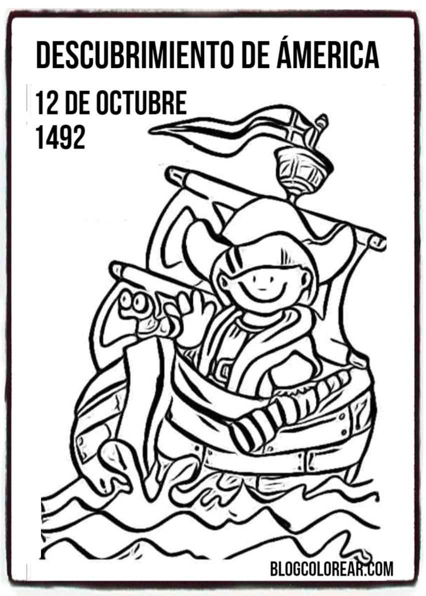 Laminas Para Colorear Dia De La Raza Colorear Dibujos Infantiles