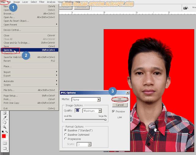 Cara Ganti Background Pas Foto 2x3, 3x4 dan 4x6 di Photoshop