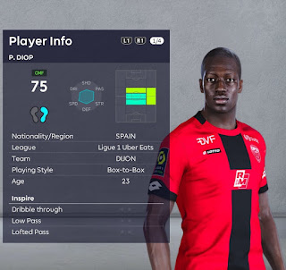 PES 2021 Faces Pape Diop